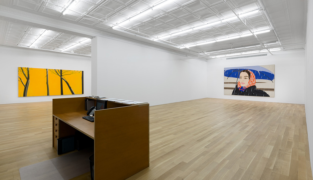 Alex katz  three paintings installation shot 1