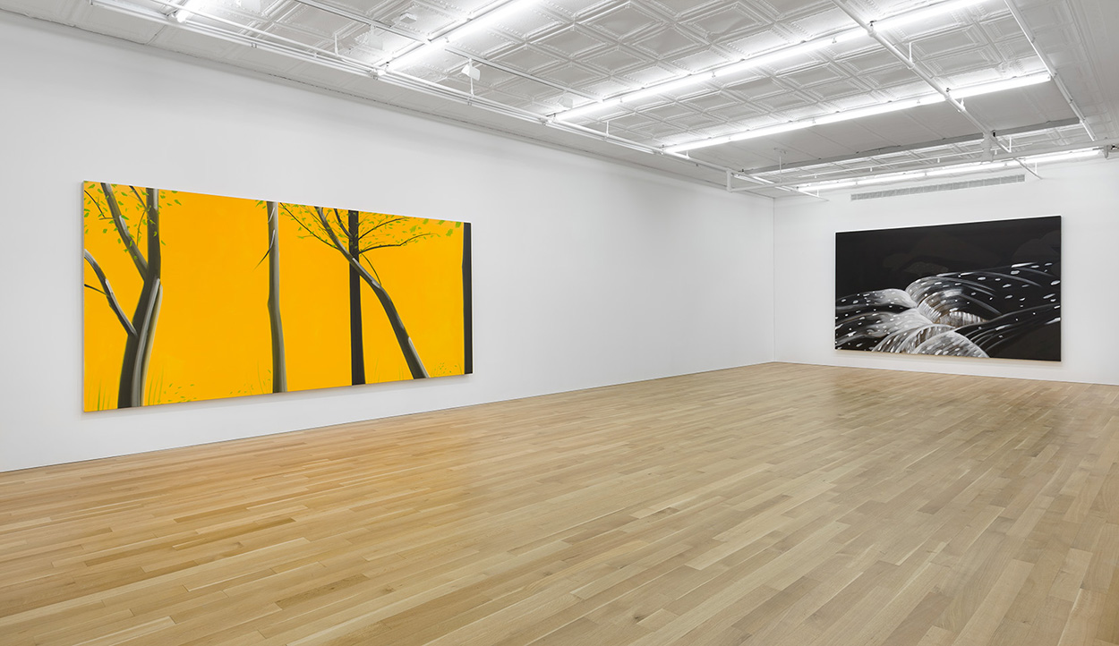 Alex katz  three paintings installation shot 2